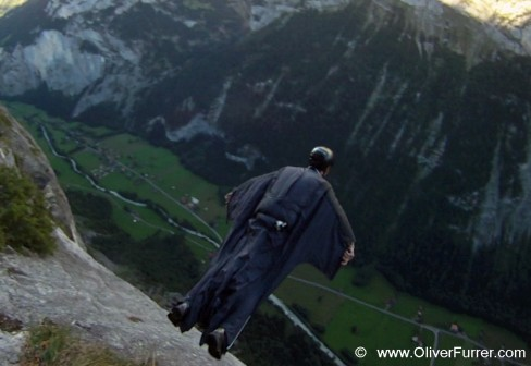 FUSION wingsuit BASE jump by Tonysuits