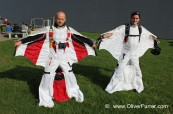 wingsuit flyers Peter & Reto