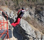 Bridge BASE jumping, canyon dive, skydive