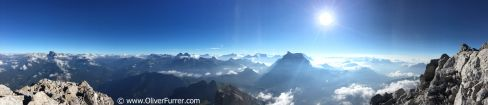 Dolomiti Heli-Base event - the scenery from Chivetta