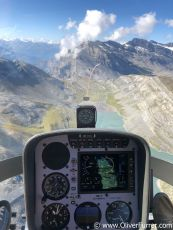 helicopter training flight over the Alps