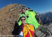 BASE Jumpers are ready to fly in wingsuits