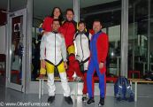 indoor skydivers after the sessions