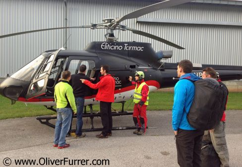 preparing for the Helicopter ride
