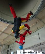 Flyers in the Indoor Skydiving Switzerland wind tunnel
