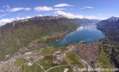 scenic flight over the Swiss Alps