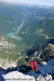 Heli-BASE event, Dolomites, Wingsuit jumper