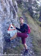 Start of the Via Ferrata at Adelboden with Corinne