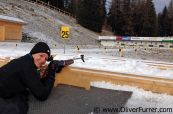 Biathlon Arena at Lenzerheide shooting