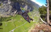 Wingsuit BASE jumping exit
