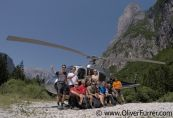 Heli-BASE event participators in the Dolomites