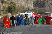 wingsuit jumpers are ready for the Eiger Jump