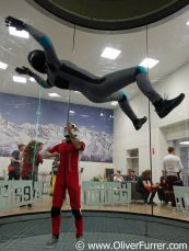 indoor skydiver is back flying